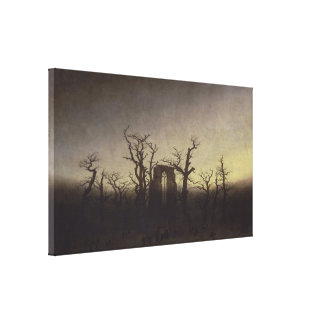Abbey among Oak Trees by Caspar David Friedrich Canvas Print