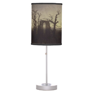 Abbey among Oak Trees by Caspar David Friedrich Desk Lamps