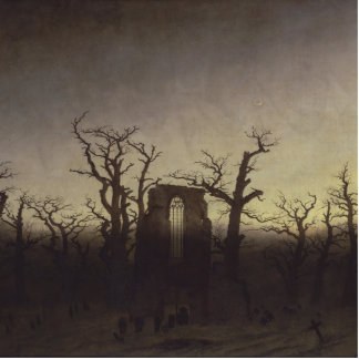 Abbey among Oak Trees by Caspar David Friedrich Standing Photo Sculpture