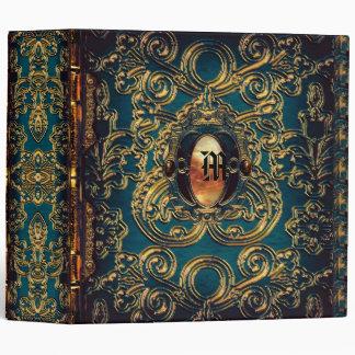Abbey Athena Victorian Monogram 3 Ring Binder
