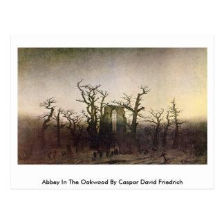 Abbey In The Oakwood By Caspar David Friedrich Postcard