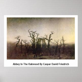 Abbey In The Oakwood By Caspar David Friedrich Poster