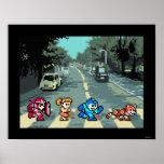 Abbey Road 8-Bit Poster
