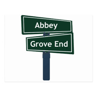 Abbey Road and Grove End Road Street Sign Postcard