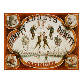 Abbey's Humpty Dumpty Combination Circus Poster