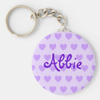 Abbie in Purple Keychain