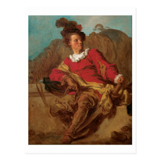 Abbot Dressed as Spaniard by Fragonard Postcard