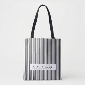 Abbott Black White Stripe Tote Bag