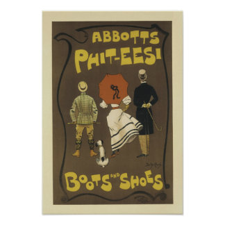 Abbotts Phit-eesi Boots and Shoes Poster