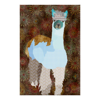 Abby Alpaca Art Poster