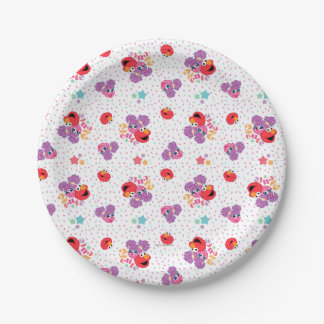 Abby And Elmo 2 Cute Pattern Paper Plate