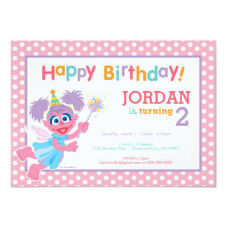 "Abby Birthday 5"" X 7"" Invitation Card"