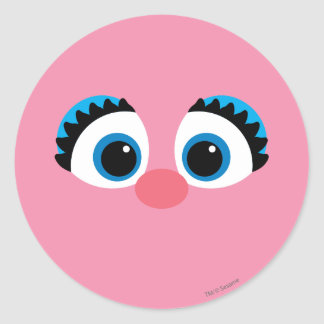 Abby Cadabby Big Face Classic Round Sticker