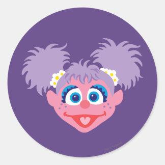 Abby Cadabby Face Classic Round Sticker
