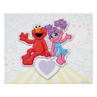 Abby & Elmo Graphic Poster