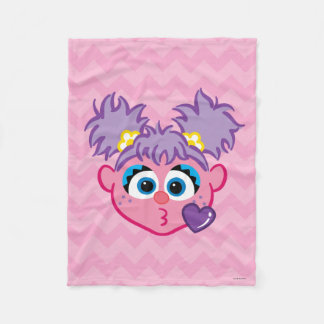 Abby Face Throwing a Kiss Fleece Blanket