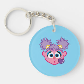 Abby Face Throwing a Kiss Keychain