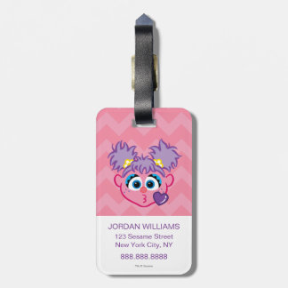 Abby Face Throwing a Kiss Luggage Tag