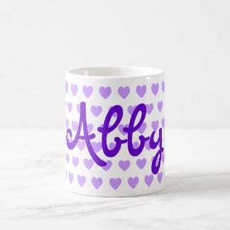 Abby in Purple Coffee Mug