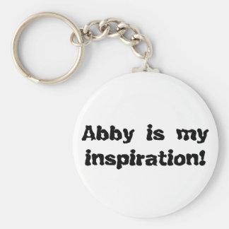 Abby is my Inspiration Keychain