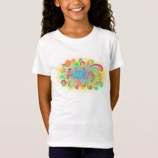 Abby Name T-shirt Framed in Fun Swirls