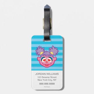 Abby Smiling Face with Heart-Shaped Eyes Luggage Tag
