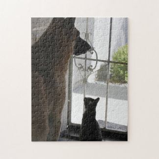 Abby With Zorro at Front Door Puzzle