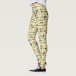 ABC 123 Alphabet Number Preschool Teacher Leggings
