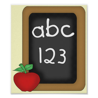 ABC 123 Chalkboard Posters