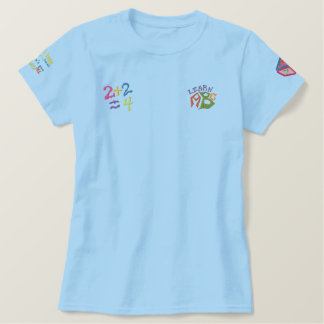 ABC + 123 Embroidered Patch T-Shirt