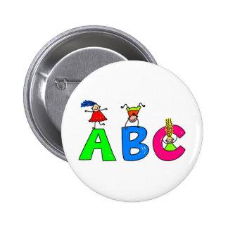 Abc 2 Inch Round Button