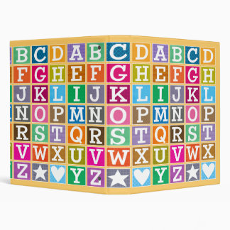 ABC Alphabet 3 Ring Binders