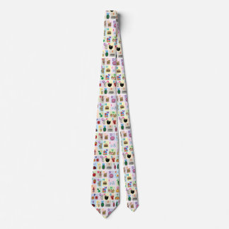 ABC Alphabet learning letters Happy Foods Design Tie
