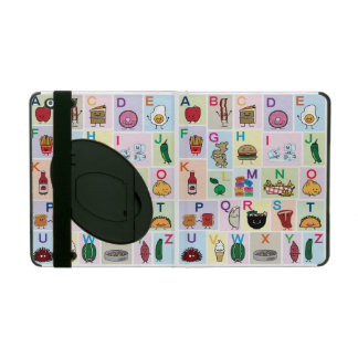 ABC Alphabet learning letters happy foods learn iPad Cover