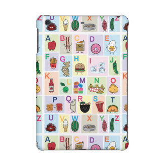 ABC Alphabet learning letters happy foods learn iPad Mini Cases