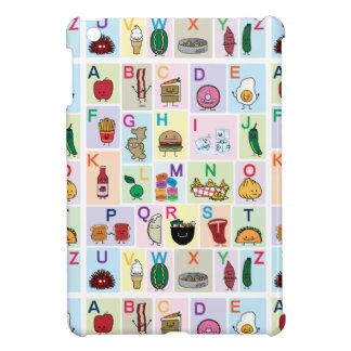 ABC Alphabet learning letters happy foods learn iPad Mini Cover