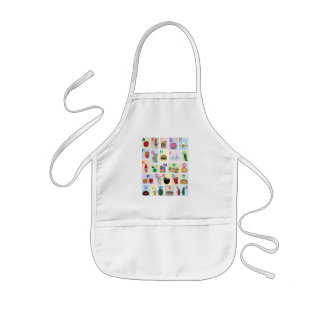ABC Alphabet learning letters happy foods learn Kids Apron
