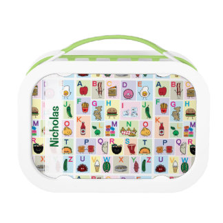 ABC Alphabet learning letters happy foods learn Lunch Boxes