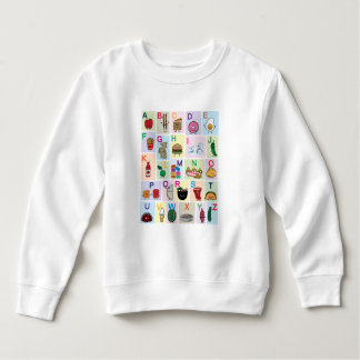 ABC Alphabet learning letters happy foods learn Sweatshirt