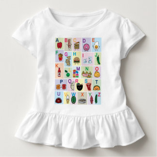 ABC Alphabet learning letters happy foods learn Toddler T-shirt