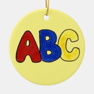 ABC Alphabet Teacher Gift Christmas Ornament