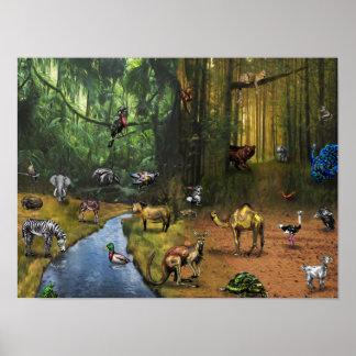 "ABC ANIMALS 16"" x 12"", Value Poster Paper (Matte)"