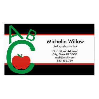 ABC Apple School Teacher Business Card Template