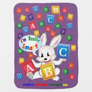 """""""ABC"""" Baby Blanket (Purple)"""