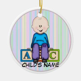 ABC Baby Boy Ceramic Ornament
