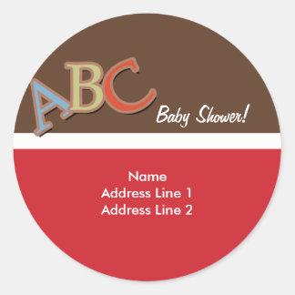 ABC Baby Shower Address Label / Envelope Seals