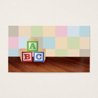 abc blocks Business Cards