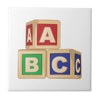 ABC Blocks Ceramic Tiles