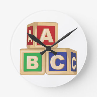 ABC Blocks Clocks