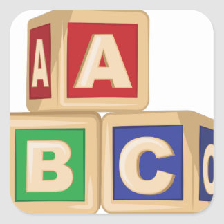 ABC Blocks Square Sticker